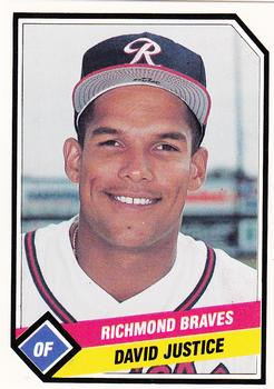1989 CMC Richmond Braves #15 David Justice  Front