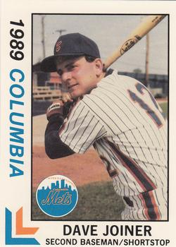 1989 Best Columbia Mets #8 Dave Joiner  Front