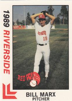 1989 Best Riverside Red Wave #12 Bill Marx  Front