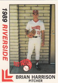 1989 Best Riverside Red Wave #7 Brian Harrison  Front