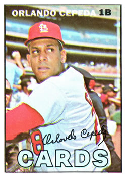 1967 Topps #20 Orlando Cepeda Front