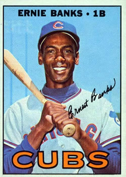 1967 Topps #215 Ernie Banks Front