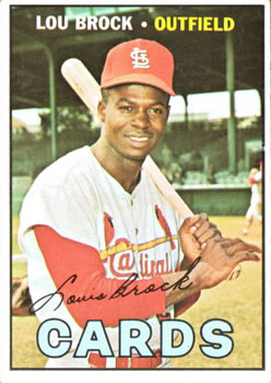 1967 Topps #285 Lou Brock Front