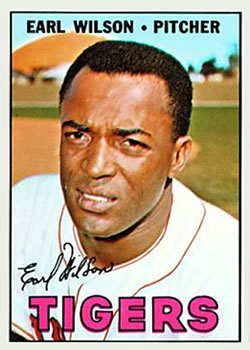 1967 Topps #305 Earl Wilson Front