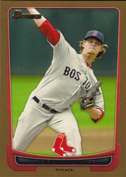 2012 Bowman - Gold #102 Clay Buchholz Front