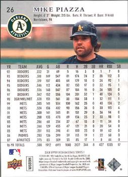 2008 Upper Deck #26 Mike Piazza Back