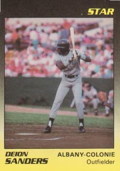 1989 Star Albany Yankees #23 Deion Sanders Front