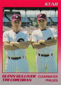 1989 Star Clearwater Phillies #26 Glenn Gulliver / Tim Corcoran Front