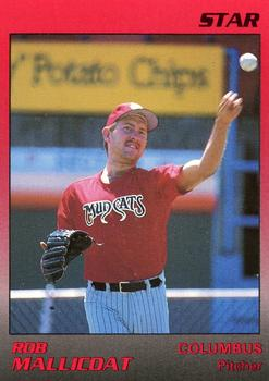 1989 Star Columbus Mudcats #17 Rob Mallicoat Front