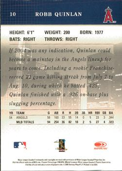2005 Donruss Studio #10 Robb Quinlan Back