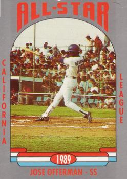 1989 Cal League All-Stars #1 Jose Offerman Front
