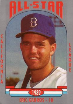 1989 Cal League All-Stars #2 Eric Karros Front