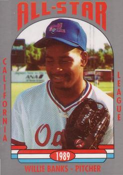 1989 Cal League All-Stars #4 Willie Banks Front