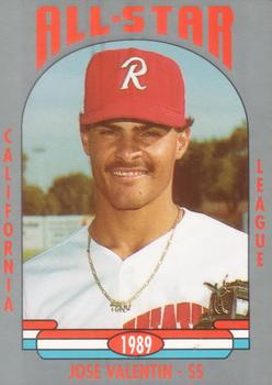 1989 Cal League All-Stars #7 Jose Valentin Front