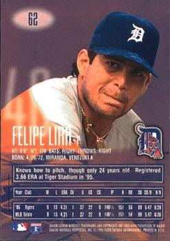 1996 E-Motion XL #62 Felipe Lira Back - 665-62Bk