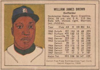 1968 Detroit Free Press Bubblegumless Detroit Tigers Baseball
