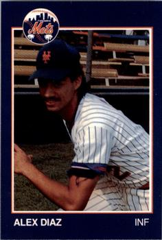 1988 Grand Slam Columbia Mets #14 Alex Diaz Front
