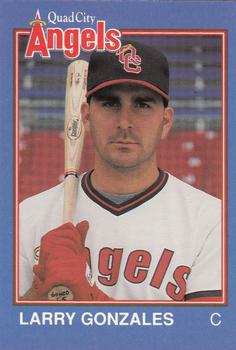 1989 Grand Slam Quad City Angels #28 <b>Larry Gonzales</b> - 66551-28Fr