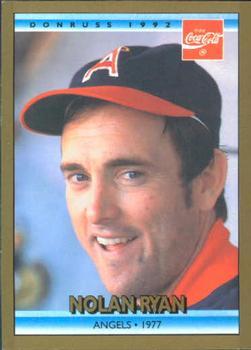 1992 Donruss Coca Cola Nolan Ryan Baseball Gallery The