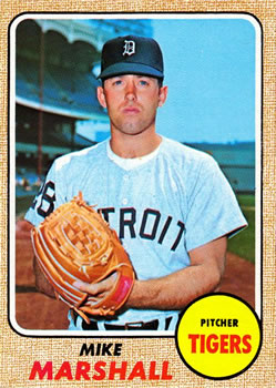 1968 Topps #201 Mike Marshall Front
