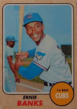 1968 Topps #355 Ernie Banks Front