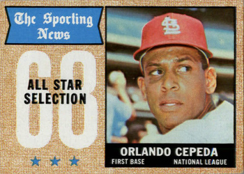 1968 Topps #362 Orlando Cepeda Front