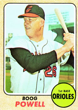 1968 Topps #381 Boog Powell Front