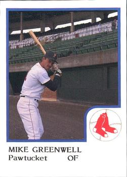 1986 ProCards Pawtucket Red Sox #10 Mike Greenwell Front