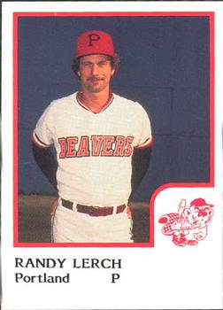 1986 ProCards Portland Beavers #14 Randy Lerch Front