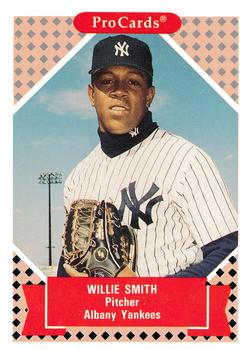 1991-92 ProCards Tomorrow's Heroes #113 Willie Smith Front