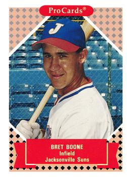 1991-92 ProCards Tomorrow's Heroes #142 Bret Boone Front
