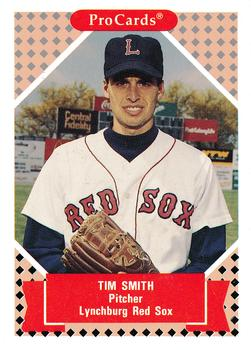 1991-92 ProCards Tomorrow's Heroes #22 Tim Smith Front