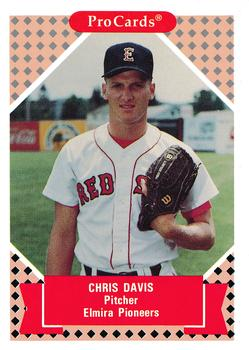 1991-92 ProCards Tomorrow's Heroes #24 Chris Davis Front
