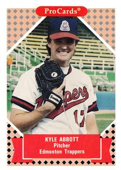 1991-92 ProCards Tomorrow's Heroes #27 Kyle Abbott Front