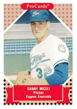 1991-92 ProCards Tomorrow's Heroes #77 Dan Miceli Front