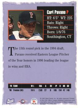 1997 Best #10 Carl Pavano Back