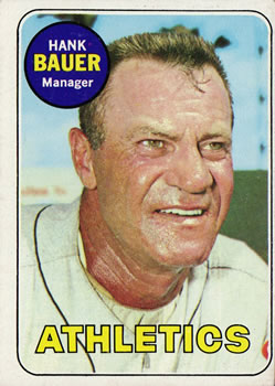 1969 Topps #124 Hank Bauer Front