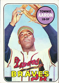 1969 Topps #128 Tommie Aaron Front