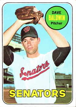 1969 Topps #132 Dave Baldwin Front