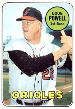 1969 Topps #15 Boog Powell Front