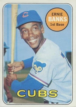 1969 Topps #20 Ernie Banks Front