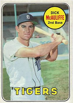 1969 Topps #305 Dick McAuliffe Front