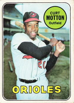 1969 Topps #37 Curt Motton Front