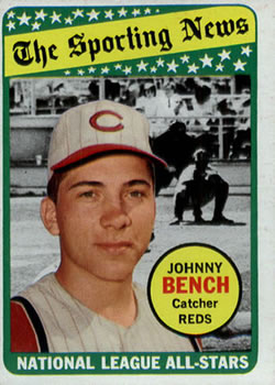 1969 Topps #430 Johnny Bench Front