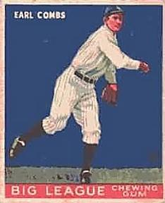 1933 Goudey #103 Earle Combs Front