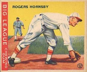 1933 Goudey #119 Rogers Hornsby Front
