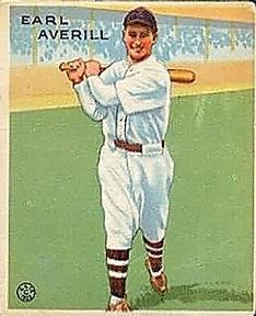 1933 Goudey #194 Earl Averill Front
