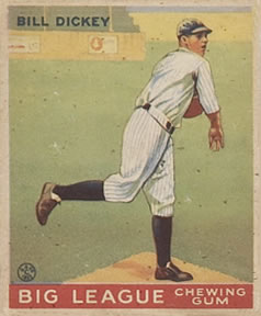 1933 Goudey #19 Bill Dickey Front