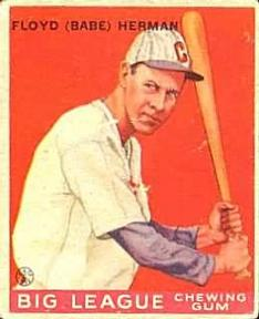 1933 Goudey #5 Babe Herman Front