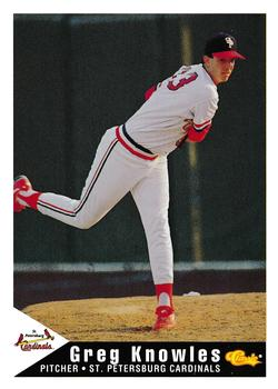 1994 Classic Best St. Petersburg Cardinals #13 Greg Knowles Front